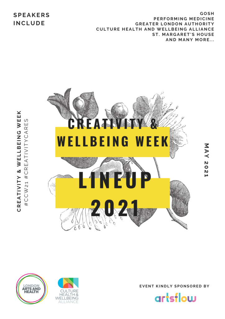A flyer for the creativity and wellbeing week